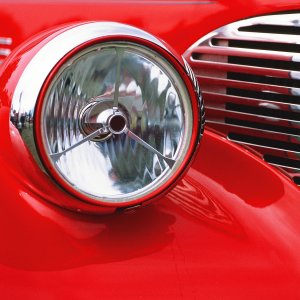 Jay Ofsthum Memorial Car Show Anchorage 2019 - Ford Headlight and Grill