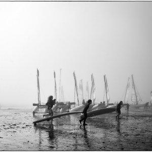 fog on the beach ..